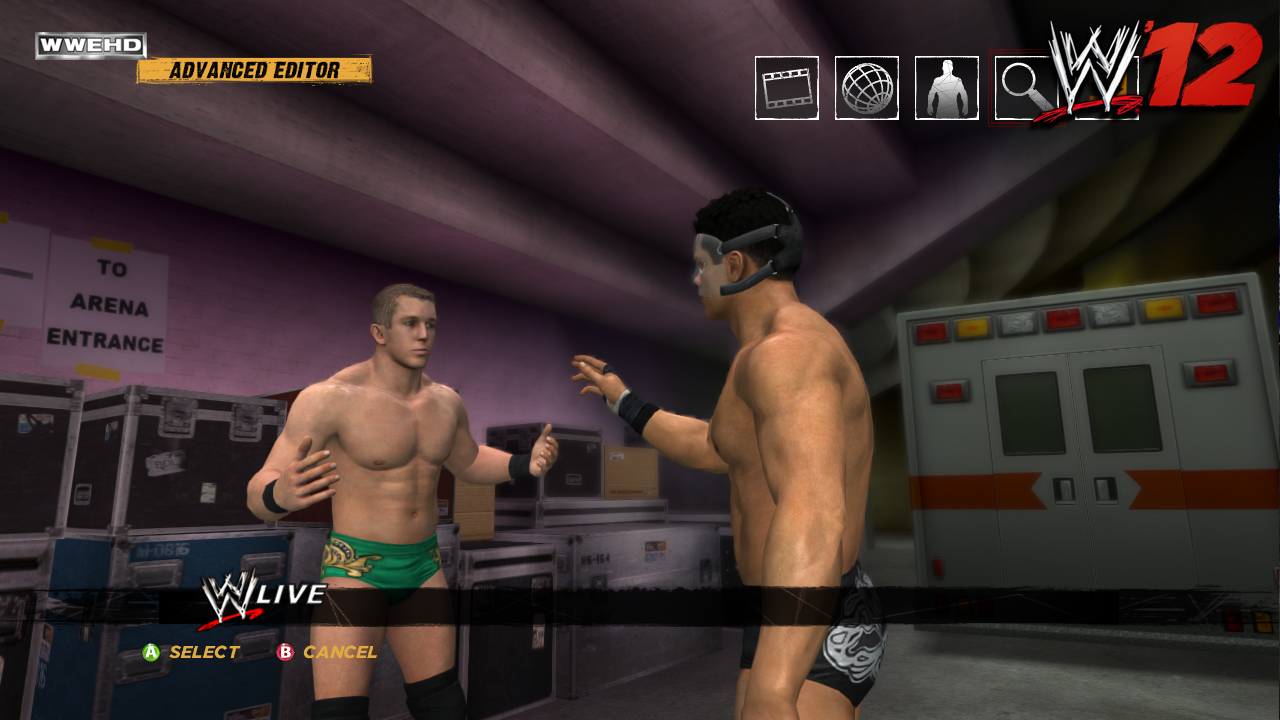 WWE '12	– Creation Suite screenshots
